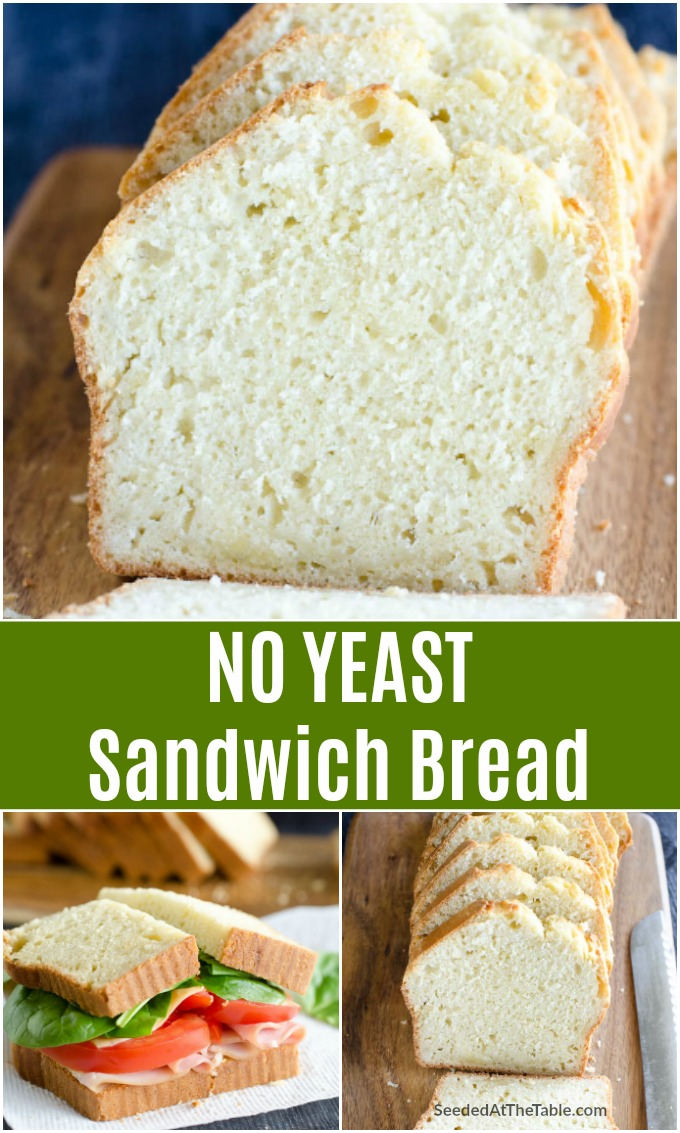 Want to make bread but have no yeast? This homemade sandwich bread recipe proves EVEN YOU you can make delicious sliced bread without yeast!