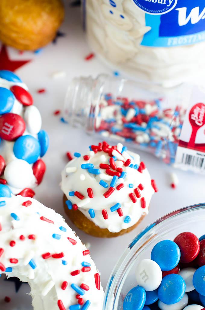 patriotic donuts and sprinkles