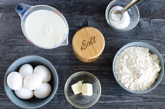 ingredients to make a dutch baby