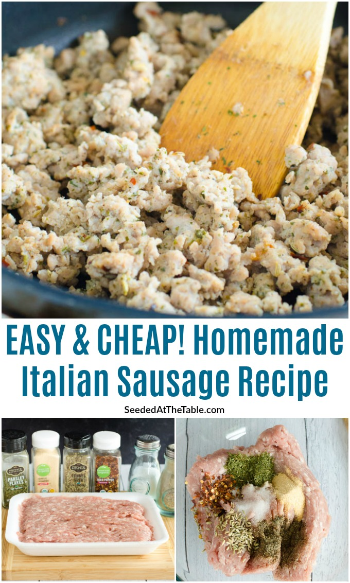Homemade Italian sausage is so easy using just ground pork and a few spices from your pantry. Use in any recipe calling for ground Italian sausage!