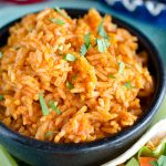mexican rice in a bowl