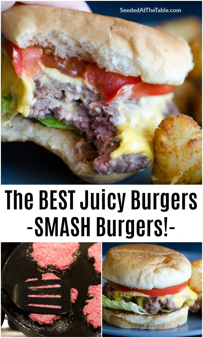 This smash burger recipe creates a tender juicy burger right in your skillet. Within minutes you'll have the best cheeseburger with crispy edges and a toasty bun ready to feed your family!