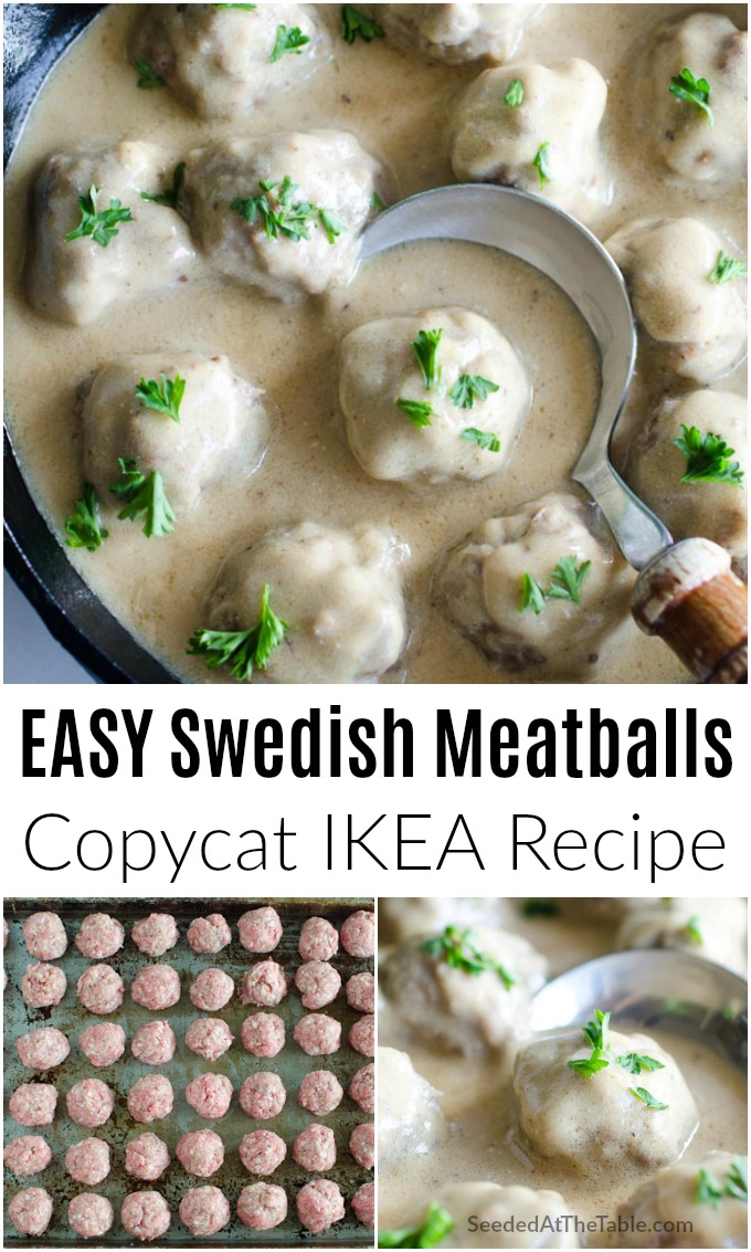 Swedish meatballs with gravy over mashed potatoes is an easy dinner your family will love. This IKEA meatballs recipe is one you'll keep making over and over again!