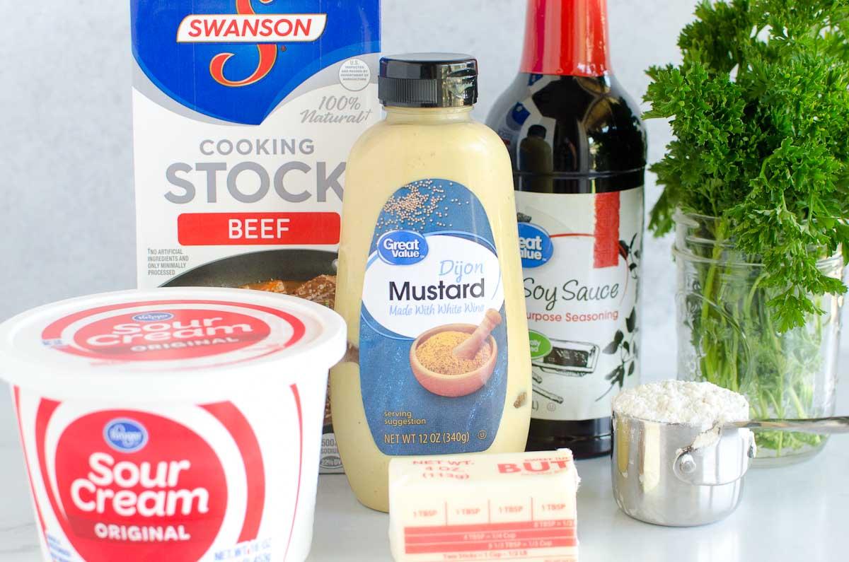 ingredients for swedish meatballs sauce