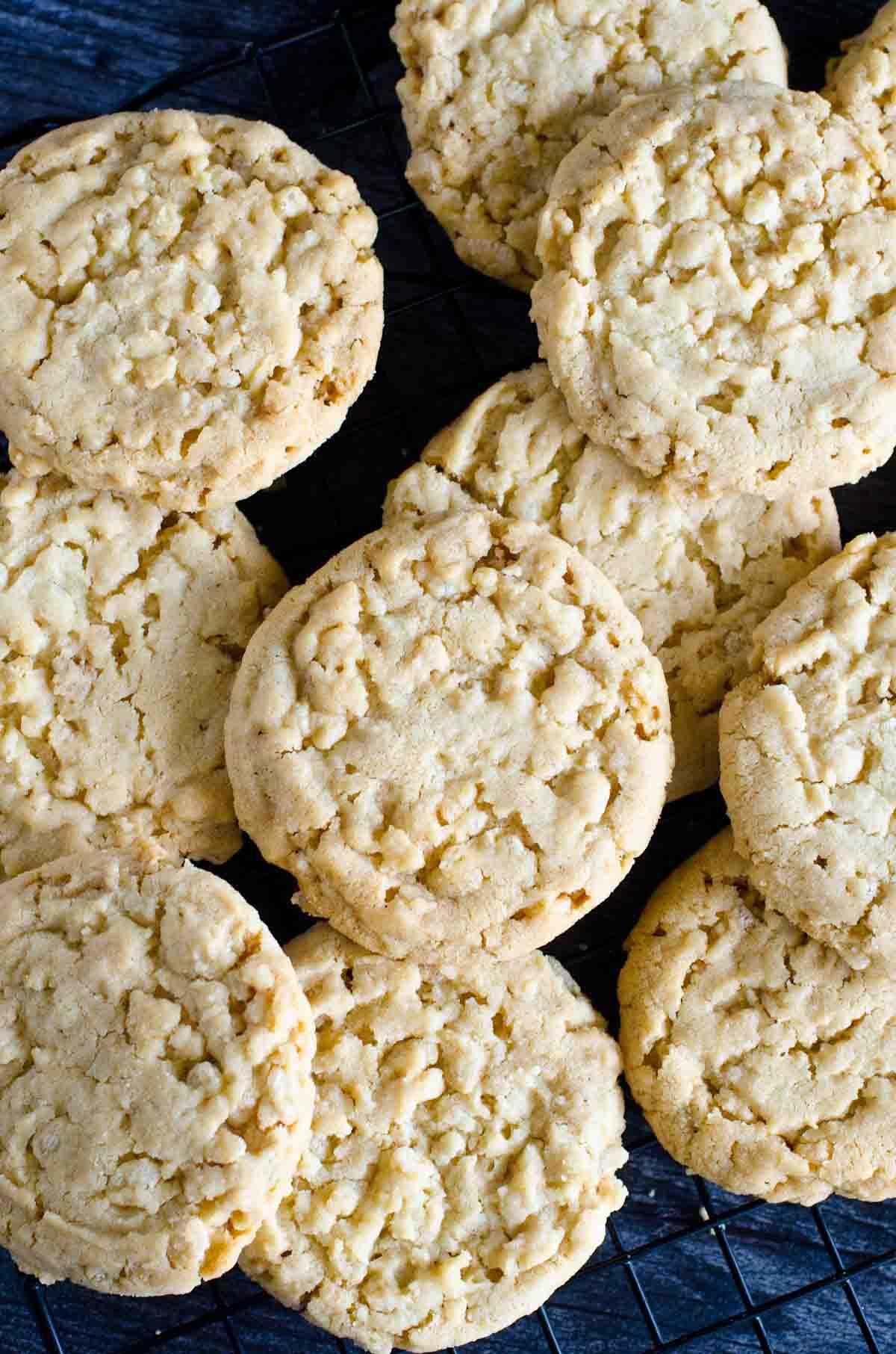 round rice krispie sugar cookies stacked