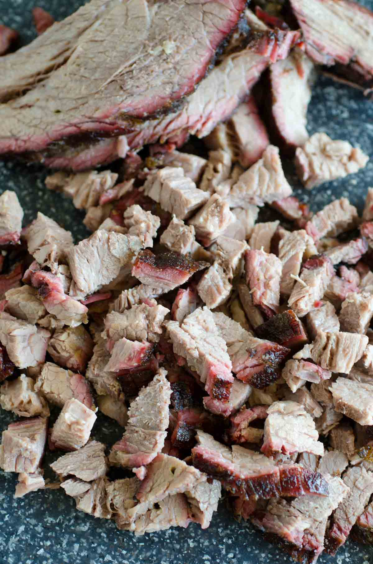 chopped smoked brisket