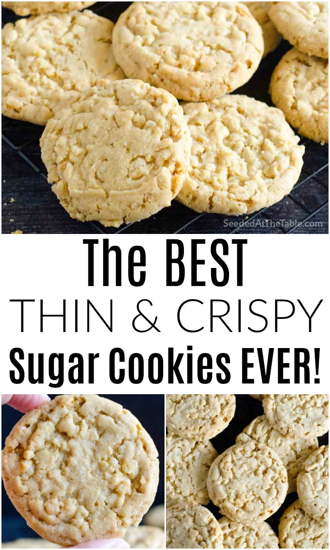 If you love crispy cookies, you will LOVE these Rice Krispie sugar cookies! This recipe is so easy you'll be making these over and over again!