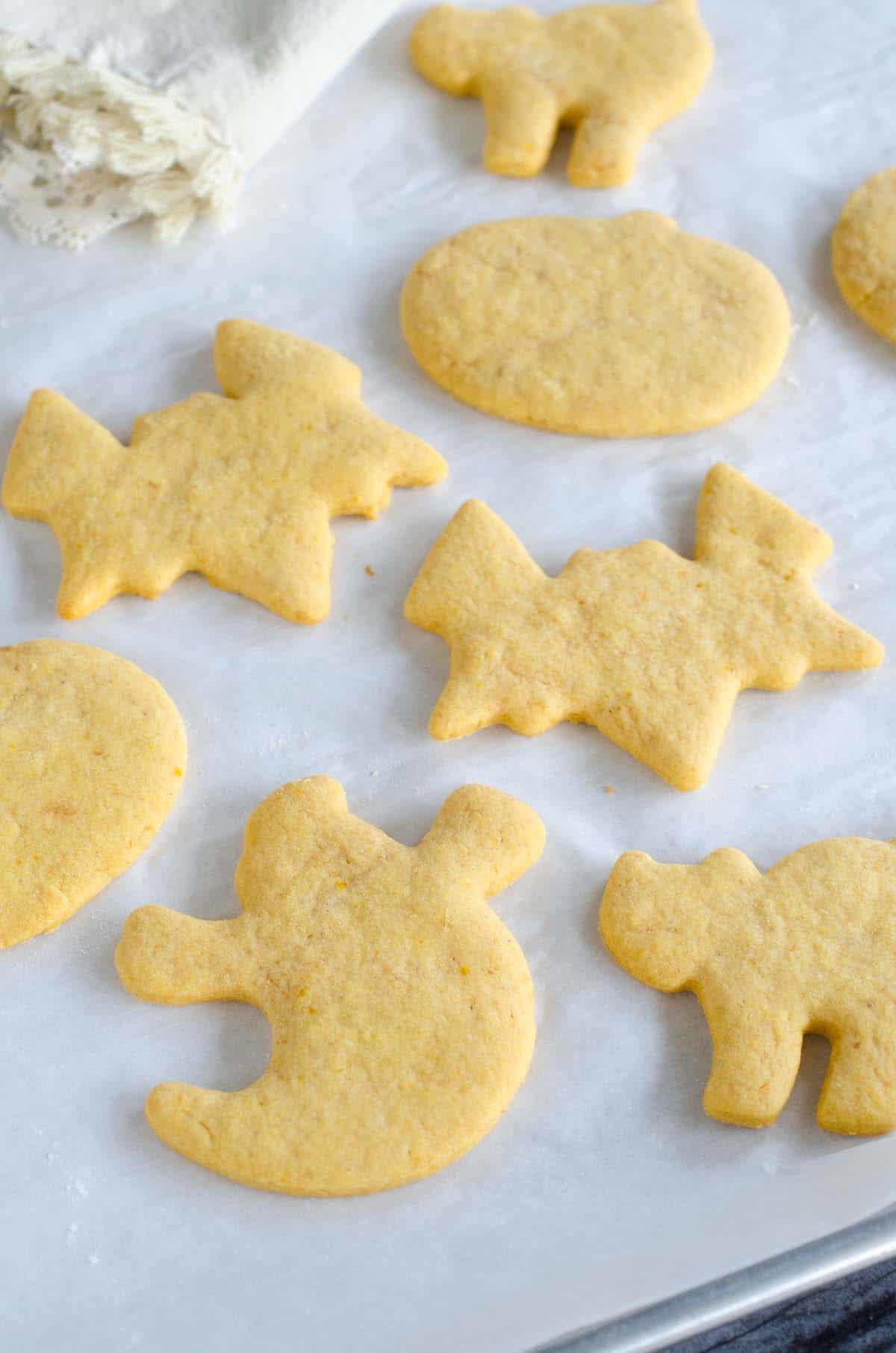 halloween cut out pumpkin sugar cookies