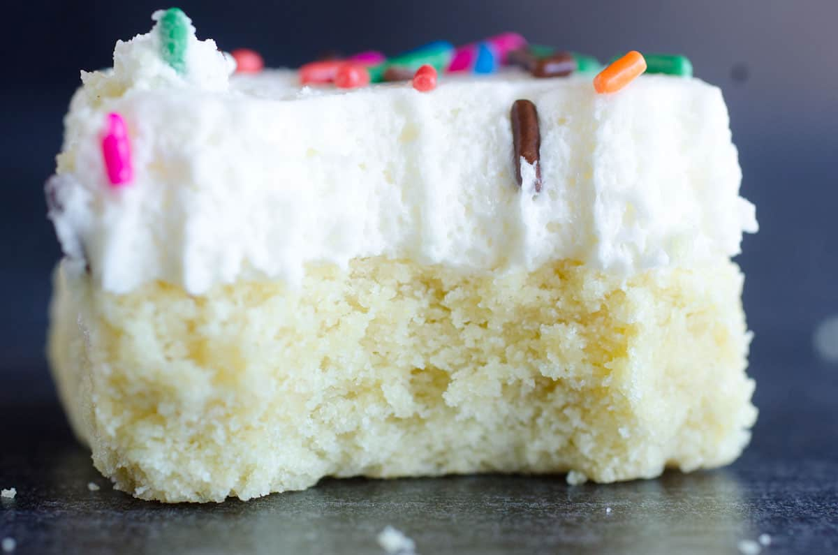 frosted sugar cookie bar with bite