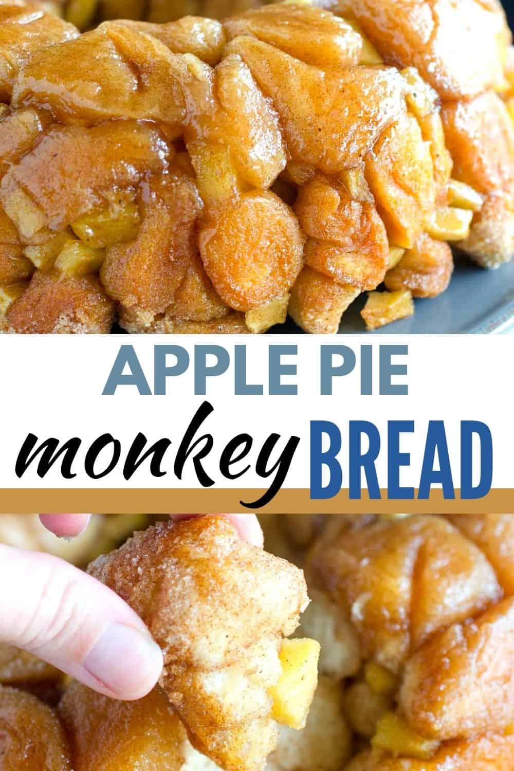 Try this apple pie monkey bread for breakfast or dessert. Use refrigerated biscuits and apple pie spices to make this easy monkey bread recipe!