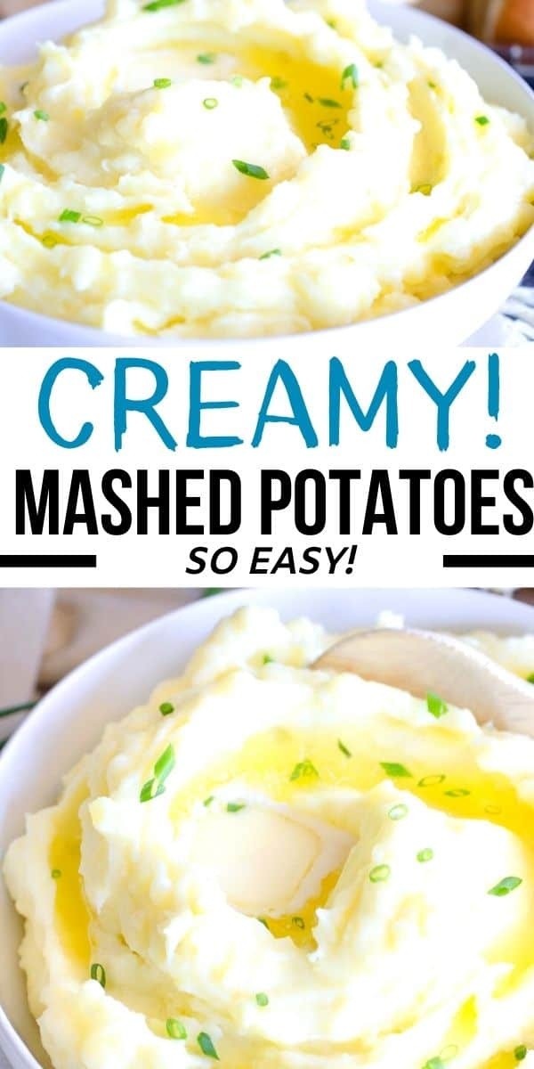 These creamy mashed potatoes are mashed with heavy cream, sour cream and butter for the best classic homemade mashed potatoes recipe. Perfect for Thanksgiving, Christmas and other family meals!