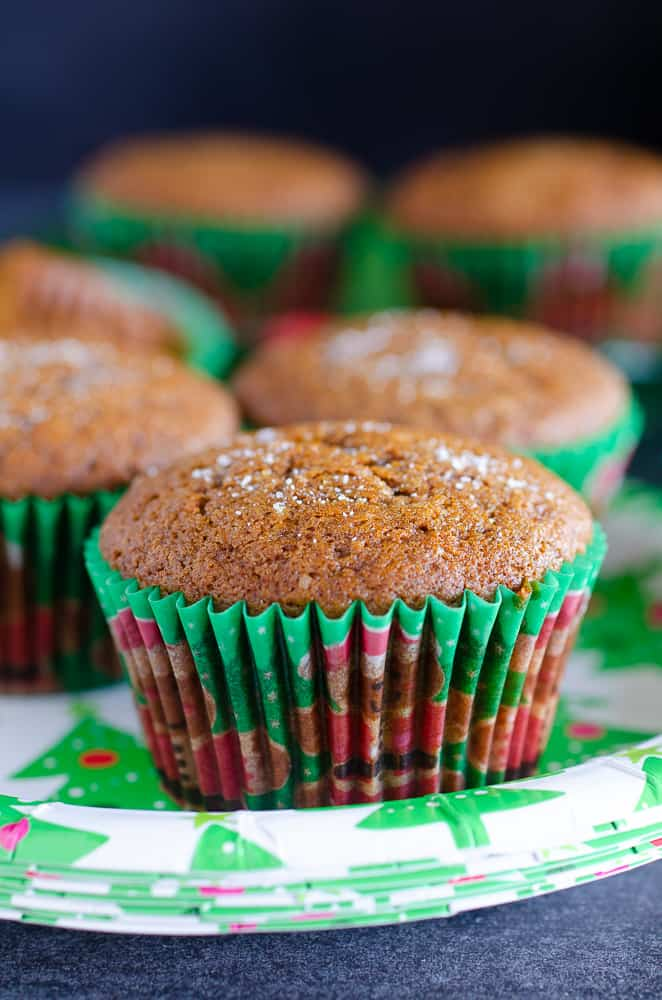 gingerbread muffins on a plate