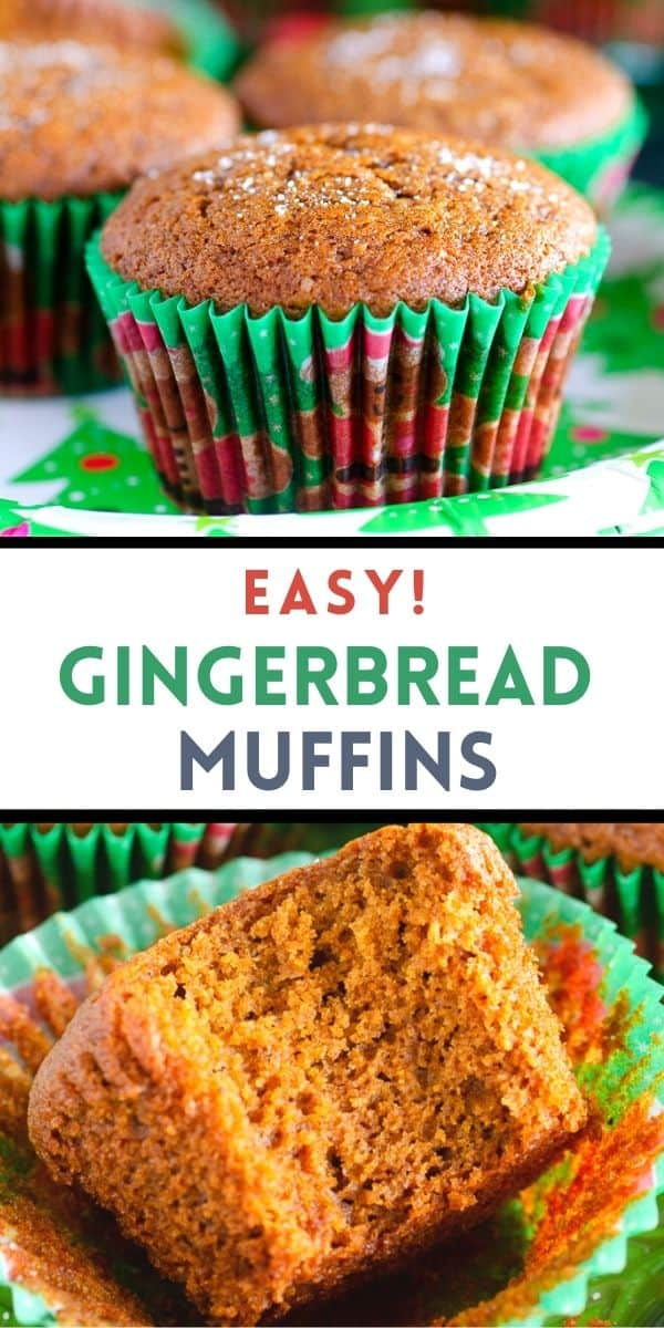 Make easy gingerbread muffins for Christmas brunch!