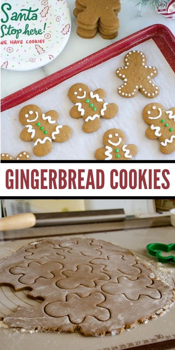This gingerbread cookie recipe is a family tradition! Tried and true easy cut out cookies to decorate for tasty holiday fun!