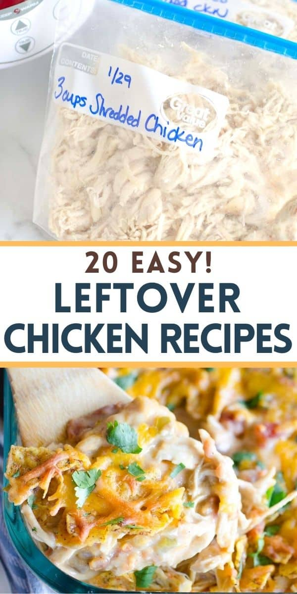 These easy leftover chicken recipes will help use up your cooked shredded chicken and make meal planning a breeze!