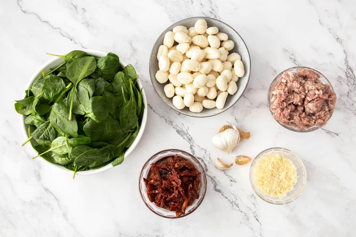 ingredients for skillet gnocchi recipe